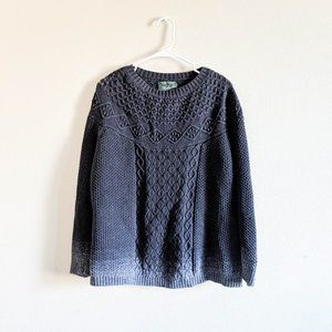 Woolrich Grey Ombre Cable Knit Sweater